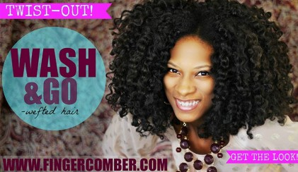 Wash and go wefted hair