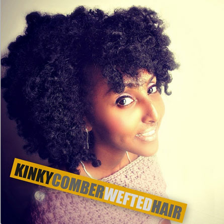KINKY COMBER WEFTED HAIR