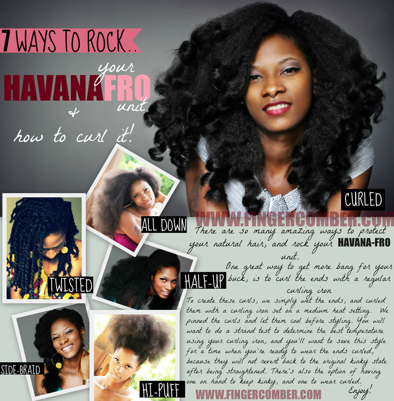 HOW TO CURL HAVANA FRO UNIT