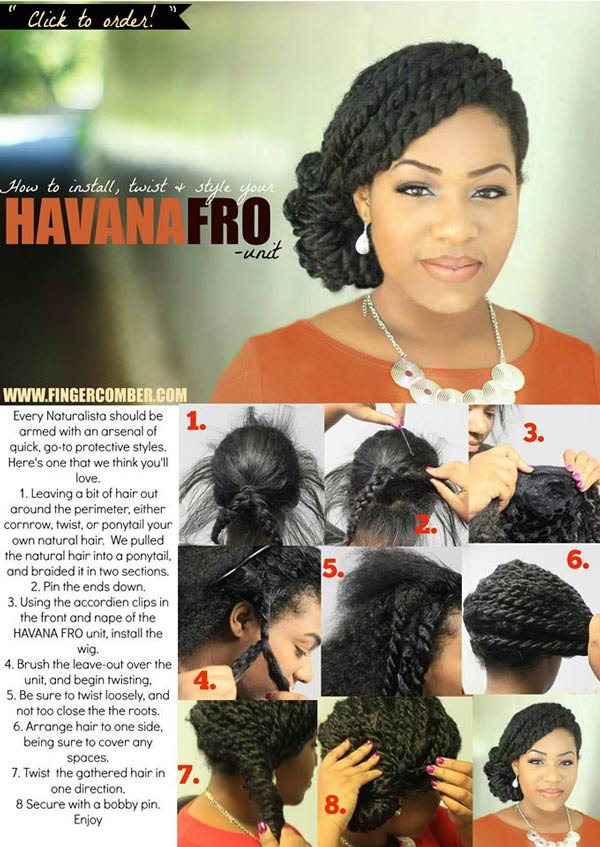 HAVANA FRO WIG TWIST AND STYLE