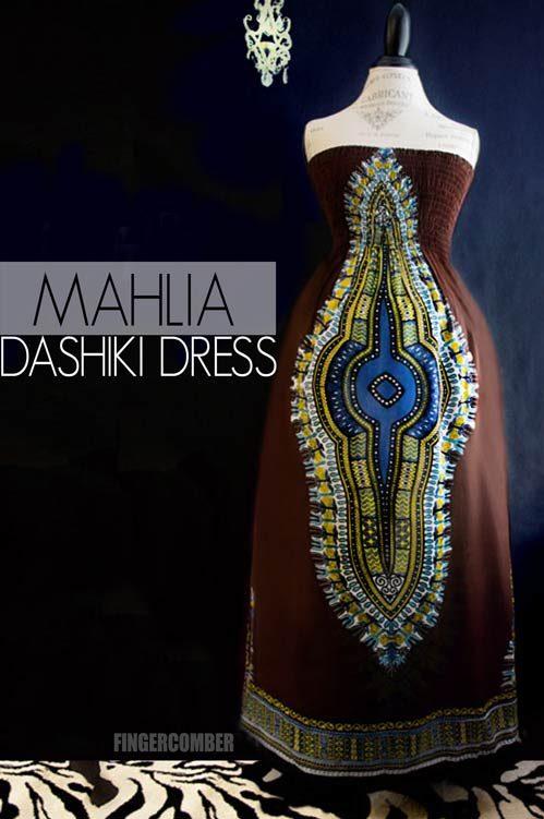 Dashiki -Mahogany