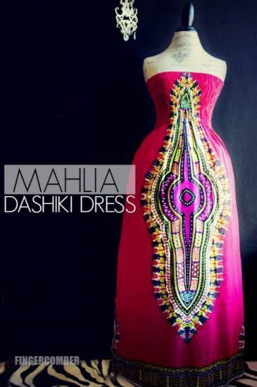 Dashiki -Haute Pink