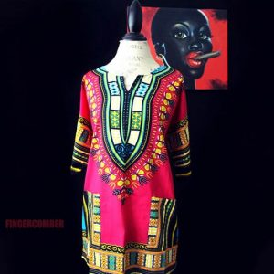 Thigh High Dashiki PINK