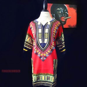 Thigh High Dashiki RED
