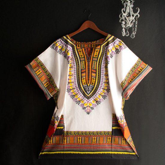White Dashiki Dress