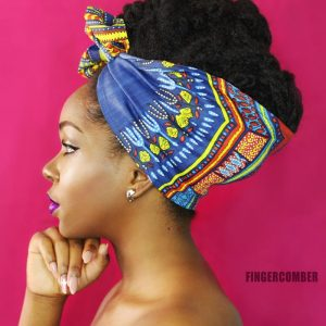 THE DASHIKI MINI HEADWRAP IN COBALT